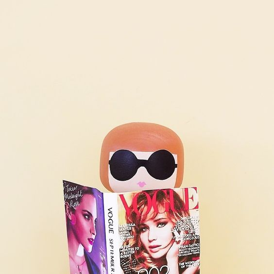 Anna Wintour Kokeshi Doll:
