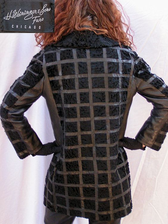 60s Black Broadtail Lamb Leather Coat Swaraka by HauteMamaVintage, $198.00