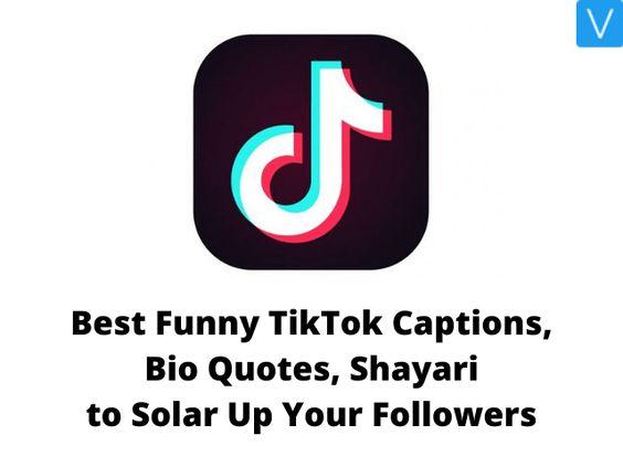 30 Best Funny Tiktok Captions Bio Quotes Shayari To Soar Up Your Followers