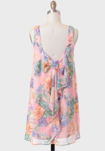 Rose Garden Bow Back Dress In Pink
