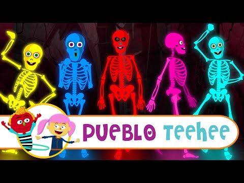 Cinco Esqueletos Salieron Una Noche Canciones Infantiles Pueblo Teehee Youtube Canciones Infantiles Canciones Divertidas Canciones Para La Familia