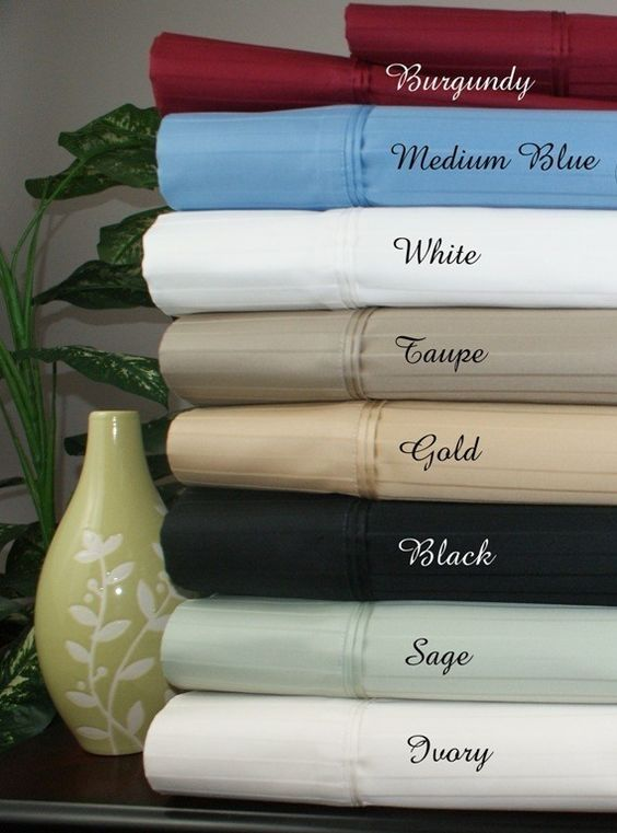 1000TC Striped Cal King Egyptian Cotton Waterbed Sheets-Unattached Color: Chocolate