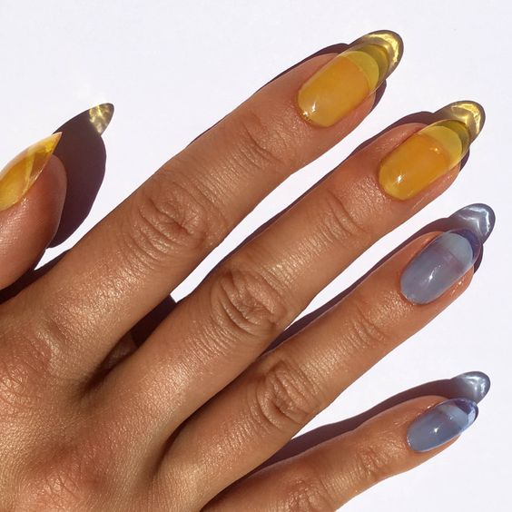 Are you ready for this jelly(nails trend)? #jellynails #nailart