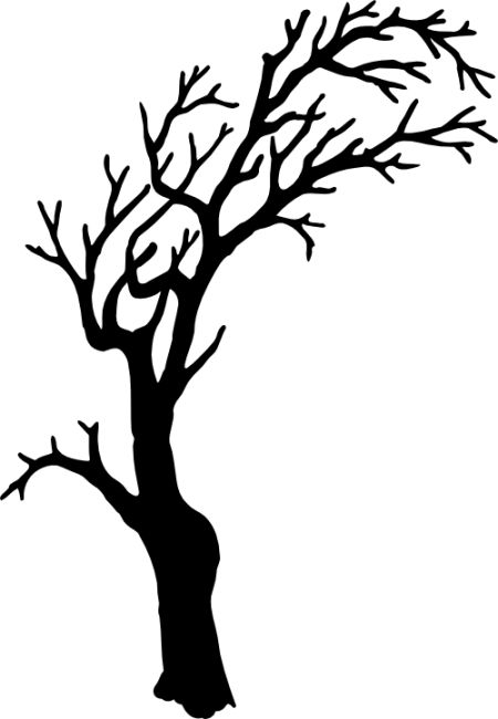 Tree silhouette trees and halloween on pinterest for Creepy trees for halloween