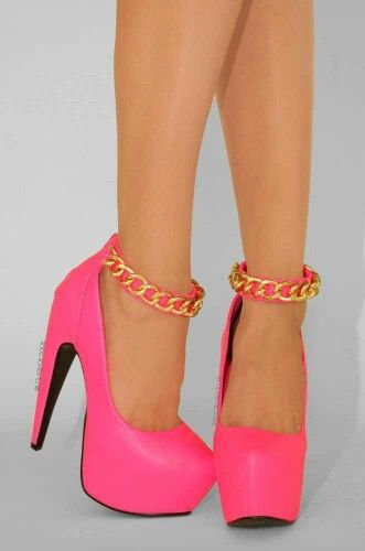 Pink And Gold Heels