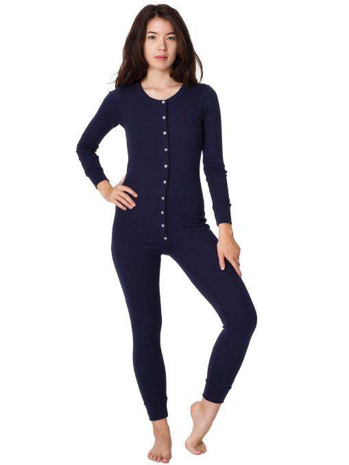 Amazon.com: American Apparel Rib Henley One-Piece: Clothing
