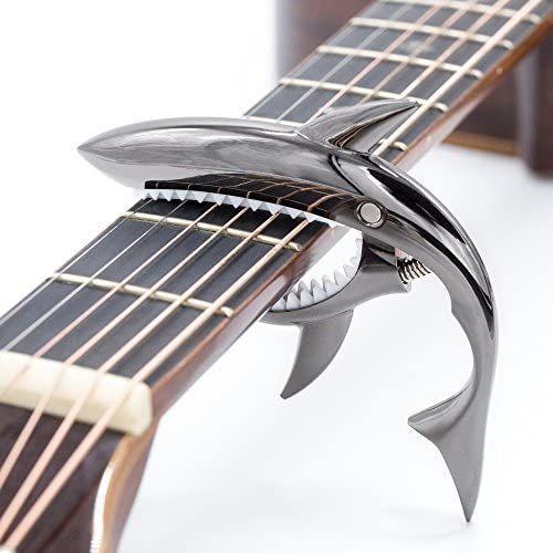 Cloudmusic Shark Capo Acoustic Guitar Capo Electric Guitar Capo Classical Guitar Capo Ukulele Capo Zinc Alloy Spring Capo Black In 2020 Guitar Capo Acoustic Guitar Capo Ukulele Capo