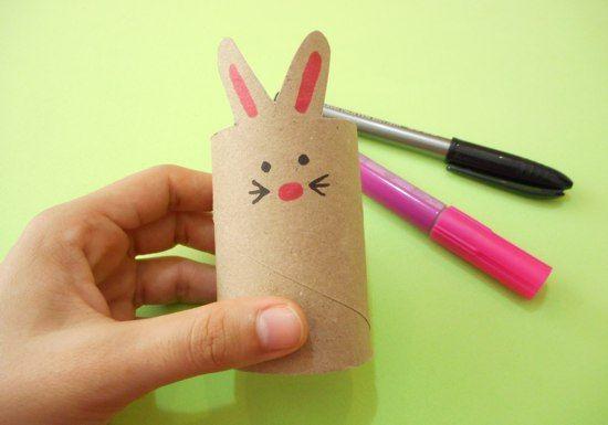 Artesanato com rolo de papel higienico para pascoa