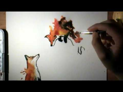 30 Aquarelle Renards Youtube Aquarelle De Renard Idees D