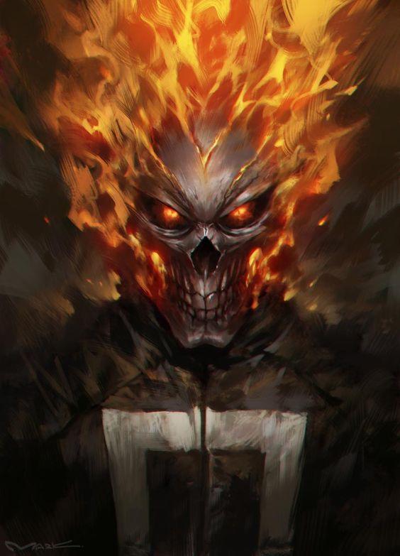 "extraordinarycomics: "" Ghost Rider by Kamiyamark. """