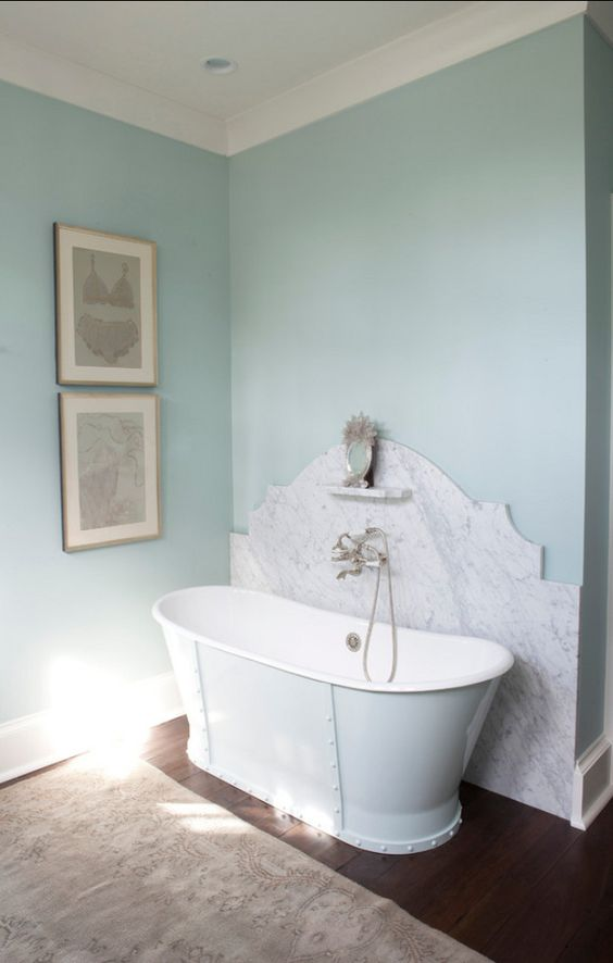 Benjamin moore palladian blue hc 144 in eggshell - Eggshell paint in bathroom ...
