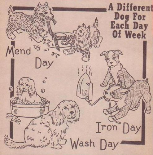 New A Dog A Day Dow Hand Embroidery Patterns from Vintage Redline Designs | eBay