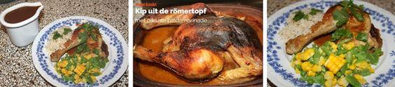Irene kookt: Kip uit de römertopf met pikante pinda marinade