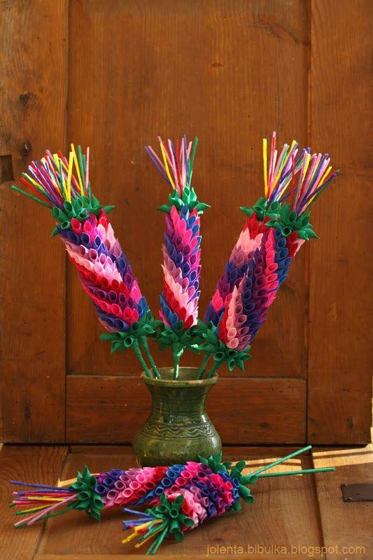 Bibulkowy Ogrodek Jolenty Palmy Handmade Flowers Easter