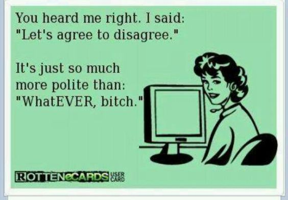 Ecards - Agree to disagree