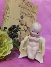 Rose O'Neill Kewpie Doll - Germany - Bisque - Sitting Chair