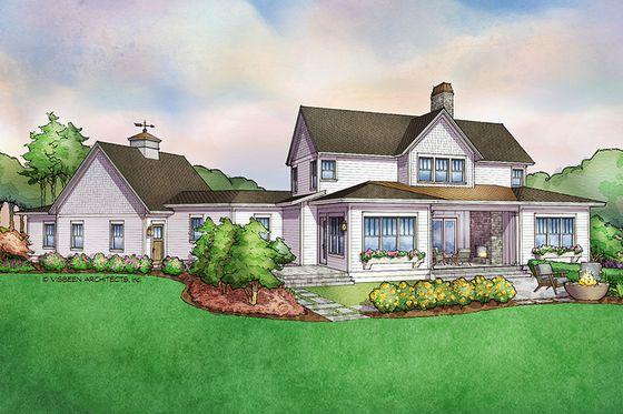 Farmhouse Style House Plan 3 Beds 3 5 Baths 3177 Sq Ft Plan 928 309 Farmhouse Style House Farmhouse Style House Plans Unique Farmhouse Plans