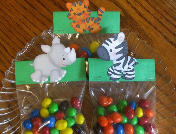 Candy bag toppers Goodie bag toppers birthday by LetsPartyCupcake