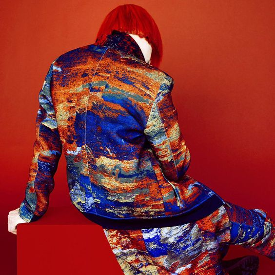 Photographer Erik Madigan Heck was commissioned to shoot this heat-map visual seen at our Fall 2015 show for NYFWM cc: @amazonfashion  @cfda