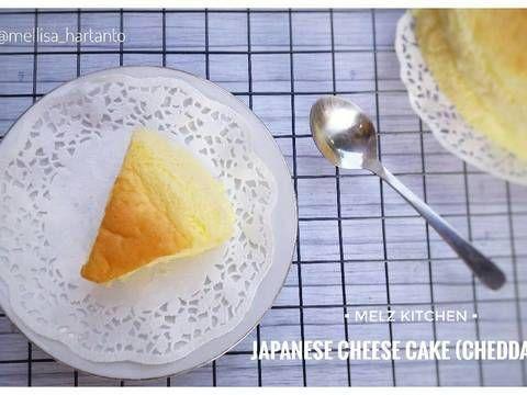 Resep Japanese Cheese Cake Cheddar Oleh Melz Kitchen Resep Kue Keju Keju Cheddar Cheddar