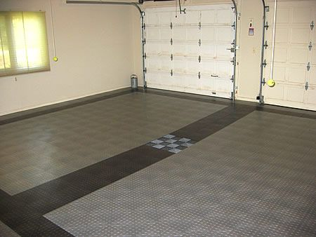 Garage floors race deck tiles at garage werks garage for How much is racedeck flooring