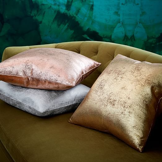 St. Jude Metallic Foil Pillow Cover - Rose Gold #westelm                                                                                                                                                                                 More