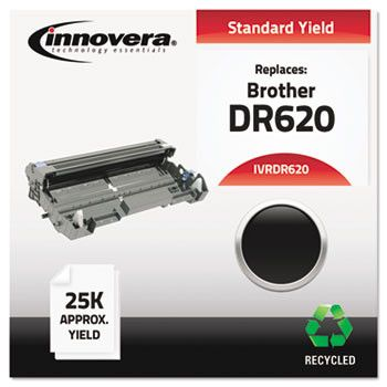 Remanufactured Dr620 Drum, 25000 Page-Yield, Black