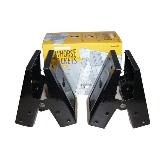 ソーホースブラケットMODEL300(2個1組:フルトン社ソーホースレッグ)「Medium Duty SPEE-DEE」【ブラック】 - 工具、DIY用品 -【garitto】