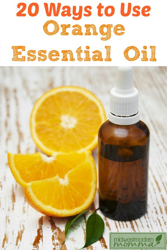 How to use orange essential oil