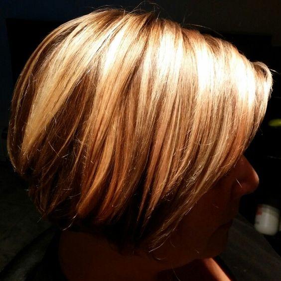 Blonde bob.  Chunky highlights