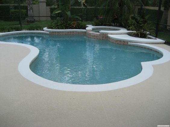 White Edge Pool Deck Color Of Pool Deck Should Be A Dark