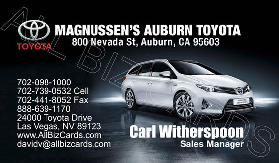 2013 Toyota Auris Hybrid Touring Sports Business Card Id 20879