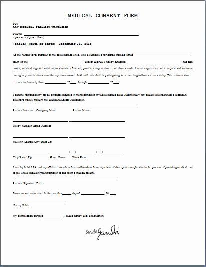 Medical Procedure Consent Form Template Luxury Medical Consent