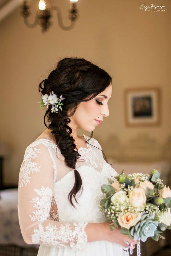 Kary M Designs Floral Beaded Bridal Clip // Leze Hurter Photography
