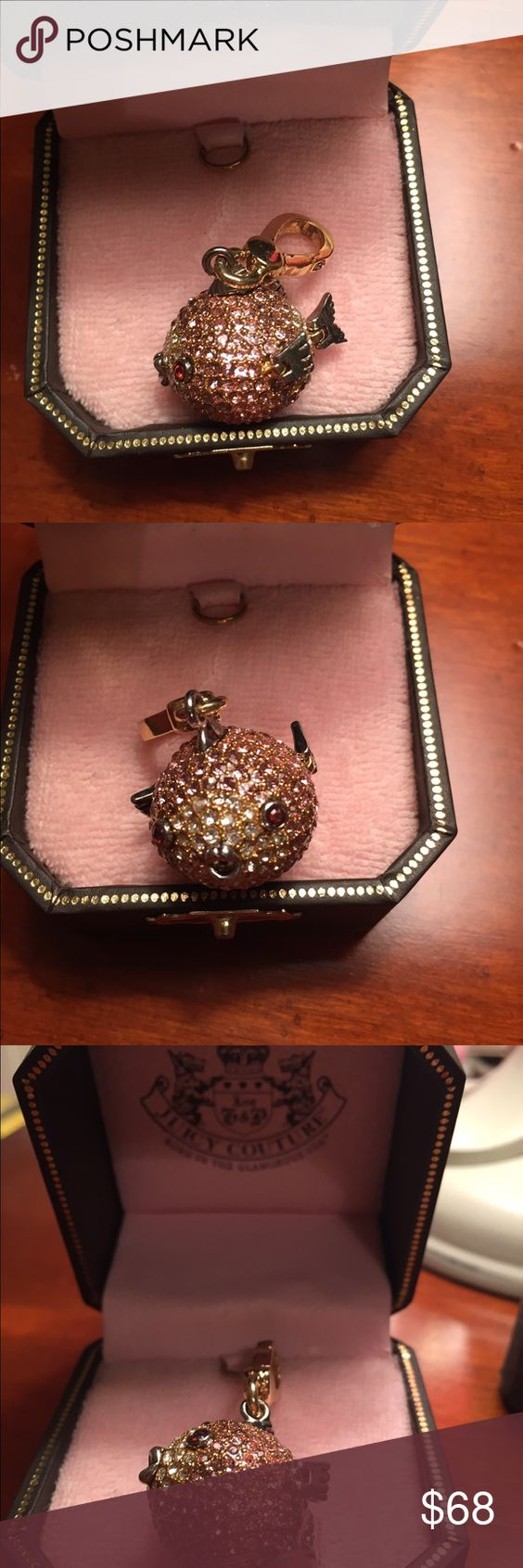 Juicy Couture Puffer Fish Diamond Charm Never Used On The Bracelet Super  Pretty Design Juicy