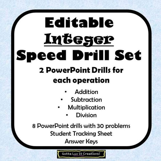 Great Integer Drills Pictures Inspiration - Math Worksheets ...