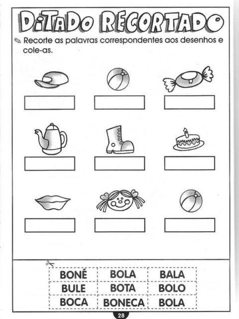 Silabas Com Ba Be Bi Bo Bu Para Aprendizado Em 2020 Atividades
