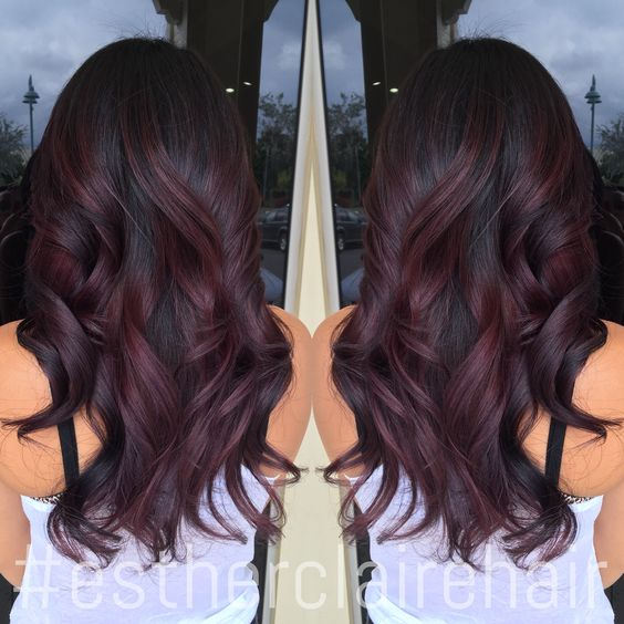 Burgundy Ombre estherclairehair colormelt ombre balayage