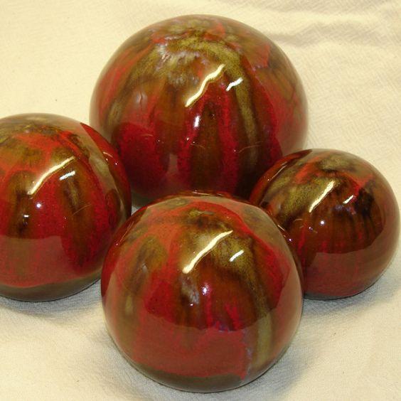 Bolas decorativas en cerámica gres