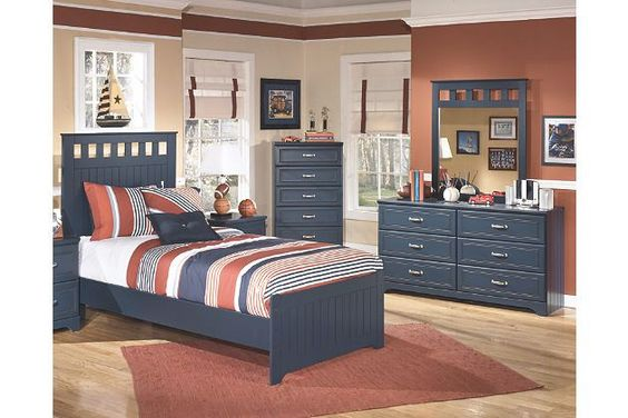 Leo 5-Piece Twin Panel Bedroom by Ashley HomeStore, Blue Cars