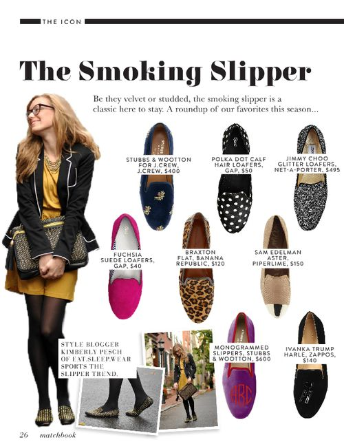 Smoking slippers - via Matchbook Mag