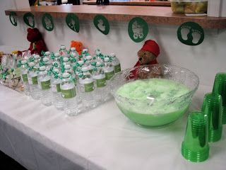 Green Shower Punch / Sherbert Punch This is the punch I made for Melody and Josh's Baby shower. I was inspired my the recipe that Judith sent me, but I needed it to be green, and I actually forgot the water that was in her recipe but it was still awesome and super easy!! Thanks...
