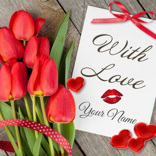 Cute And Romantic Love Note For Girlfriend With Name Write Name On