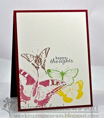 stamp layering. love the colors. Andrea Matthews. workinprogress-am.blogspot.com