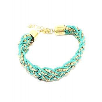 Bracelet vintage perles tressées
