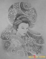 hình xăm geisha 32