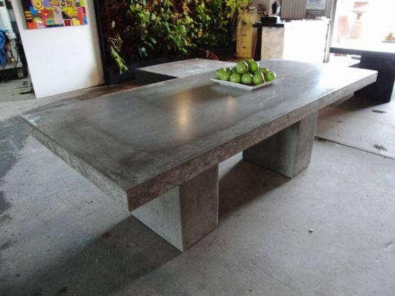 Outdoor lightweight concrete table noosaville noosa area for Outdoor furniture noosa