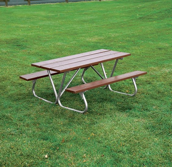 Heavy Duty Bolt-Thru Wooden Picnic Table | Portable Wood Picnic Table from BYO Recreation.