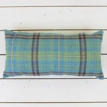 Blue Check Rectangular Cushion  - Lily and Moor