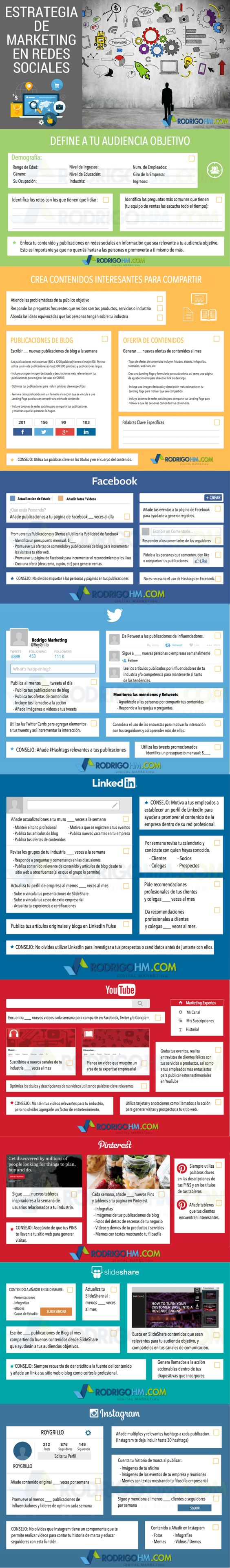 Estrategias de Marketing en Redes Sociales #infografia